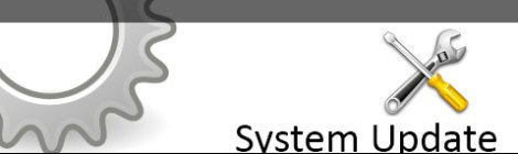 Featured post banner for system updates. Title and crossed screwdriver and wrench icon